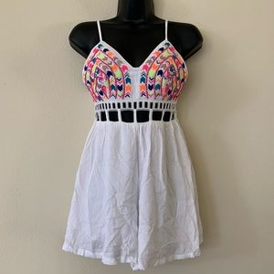 New Indikah Multicolor Embroidered Cutout Romper